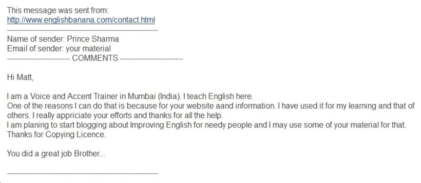 English Banana.com's Free Copying Licence...